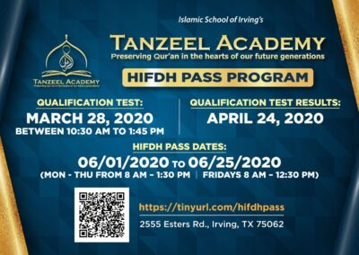 New HIFZ Pass Flyer 2020