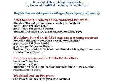 Tanzeel Academy After School and Weekend Program