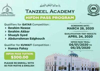 Tanzeel Academy Hifz Pass Program