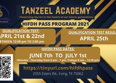 Tanzeel Academy Flyer 21-22